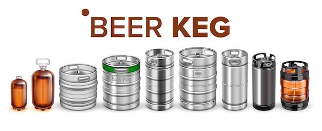 Conjunto de barril de barril de bebidas
