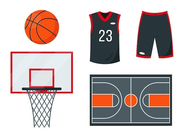 Conjunto de basquete. equipamentos e acessórios esportivos