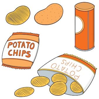 Conjunto de batatas fritas
