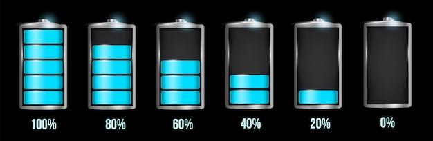 Conjunto de bateria alcalina realista.