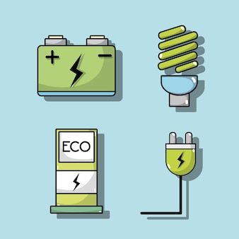 Conjunto de bateria de carro elétrico e tecnologia de recarga de energia