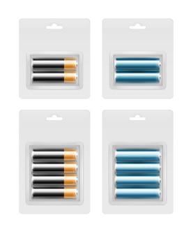 Conjunto de baterias em blister transparente