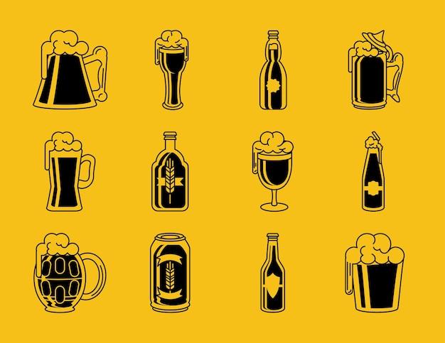 Conjunto de bebida de cerveja