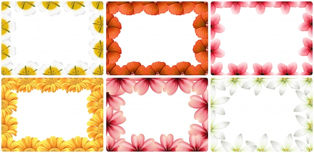 Conjunto de beira de flor