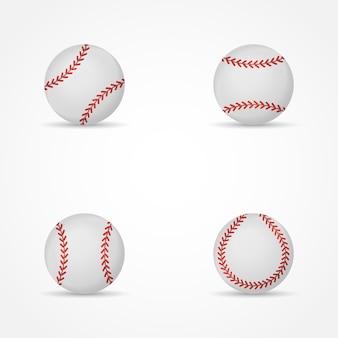 Conjunto de beisebol isolado ilustração.
