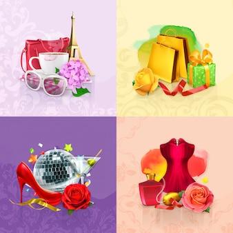Conjunto de beleza e cosméticos