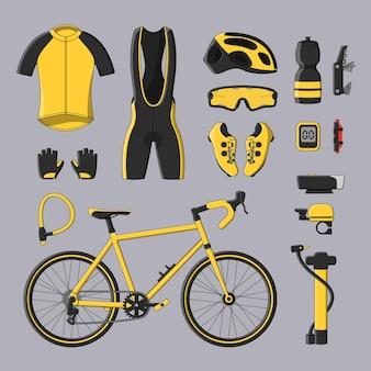 Conjunto de bicicleta com acessórios