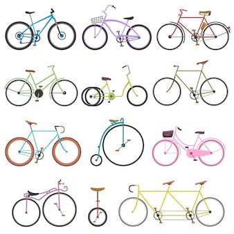 Conjunto de bicicleta retro vintage