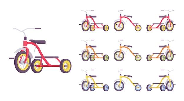 Conjunto de bicicleta triciclo infantil