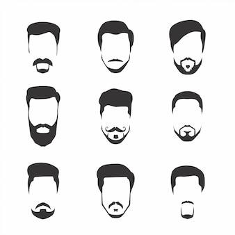 Conjunto de bigode e barba