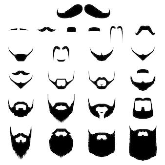 Conjunto de bigondas e variação de beard hipster