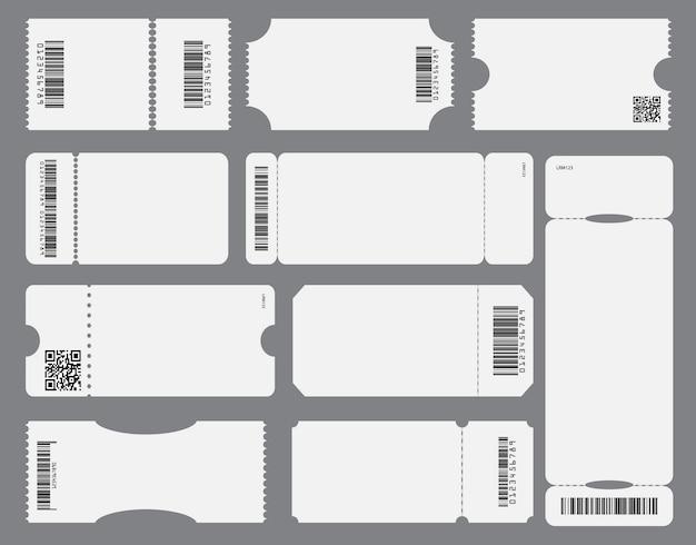 Conjunto de bilhete vazio simulado de modelo isolado vetor eps