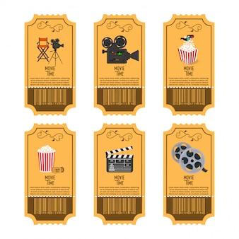 Conjunto de bilhetes de cinema