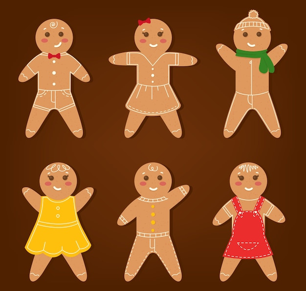Conjunto de biscoitos de homem-biscoito de desenho animado