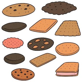 Conjunto de biscoitos e bolachas