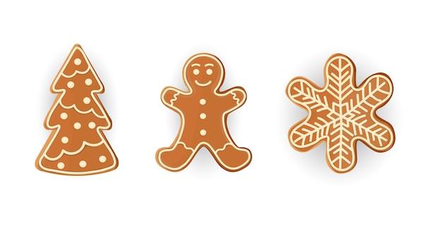 Conjunto de biscoitos para o natal