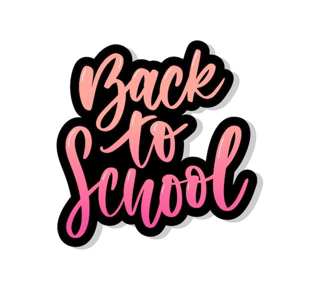 Conjunto de boas-vindas de volta para rótulos de escola