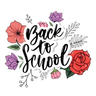 Conjunto de boas-vindas de volta para rótulos de escola.