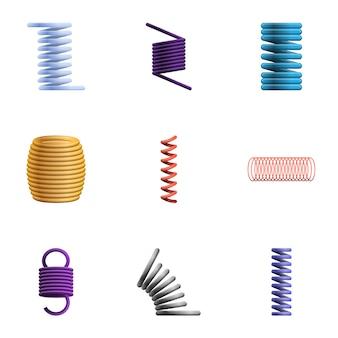 Conjunto de bobinas, estilo cartoon