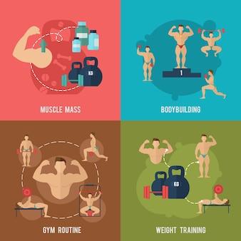 Conjunto de bodybuilding flat
