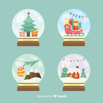 Conjunto de bola de neve de natal