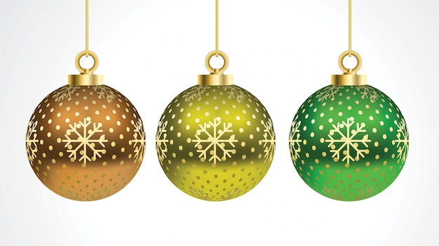 Conjunto de bolas de natal coloridas de vetor com ornamentos