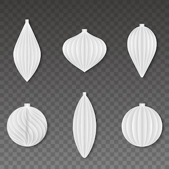 Conjunto de bolas de papel de natal
