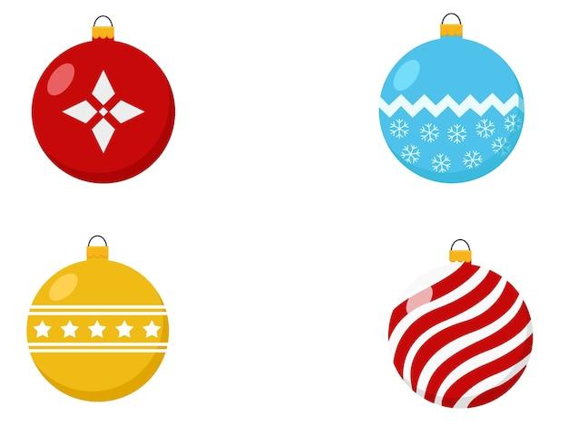 Conjunto de bolas decorativas chrismast