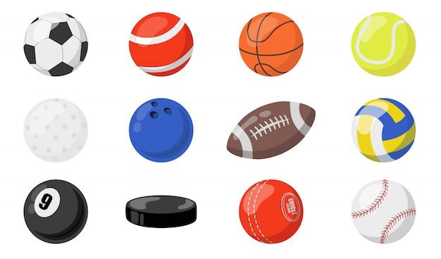 Conjunto de bolas para esportes