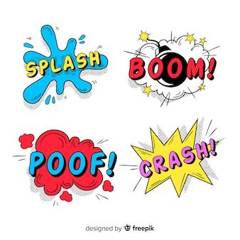 Conjunto de bolha do discurso em quadrinhos