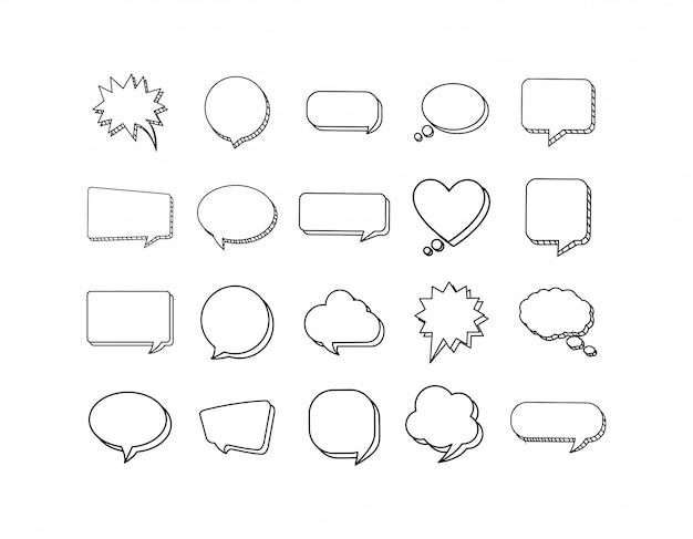 Conjunto de bolhas de comunicação isolada