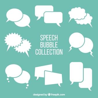 Conjunto de bolhas de discurso cômico