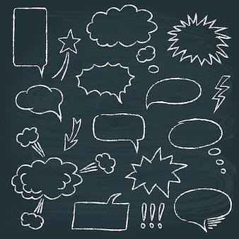 Conjunto de bolhas de discurso estilo quadrinhos