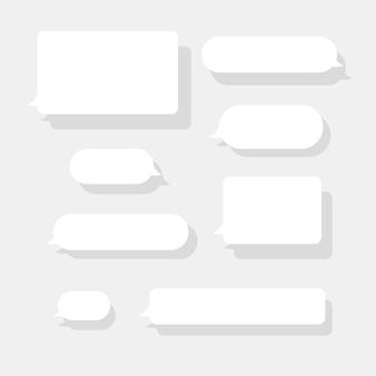 Conjunto de bolhas de mensagem