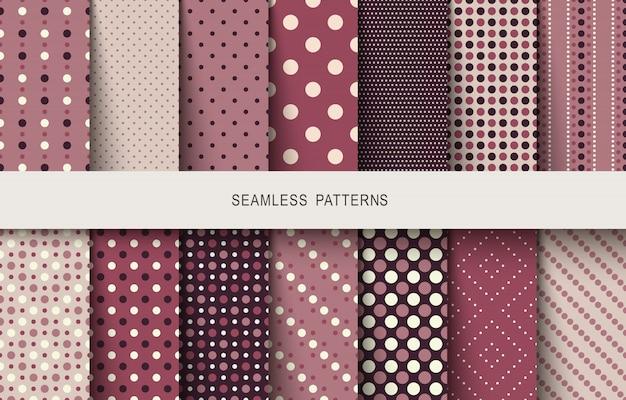 Conjunto de bolinhas de padrões sem emenda