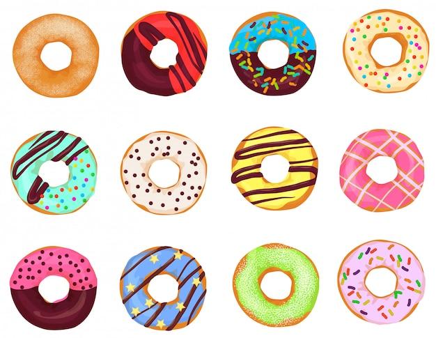 Conjunto de bolos de donuts