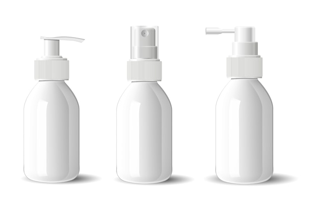 Conjunto de bomba de spray de dispensador de garrafa de cosméticos de vidro