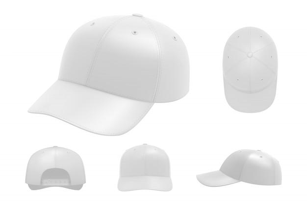 Conjunto de boné branco coleção