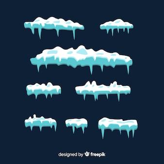 Conjunto de boné de neve