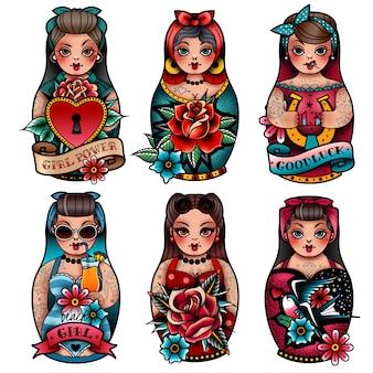Conjunto de bonecas russas