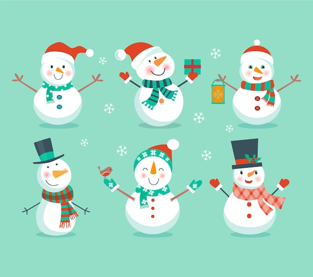 Conjunto de bonecos de neve