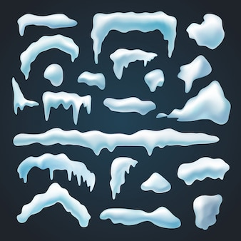 Conjunto de bonés de neve