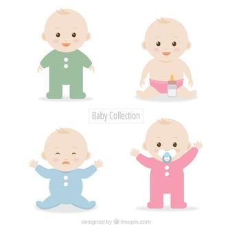 Conjunto de bonitos bebês