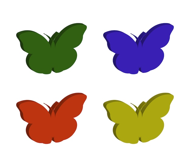 Conjunto de borboletas