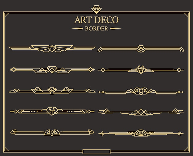 Conjunto de borda art deco