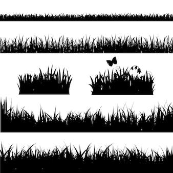 Conjunto de borda de grama