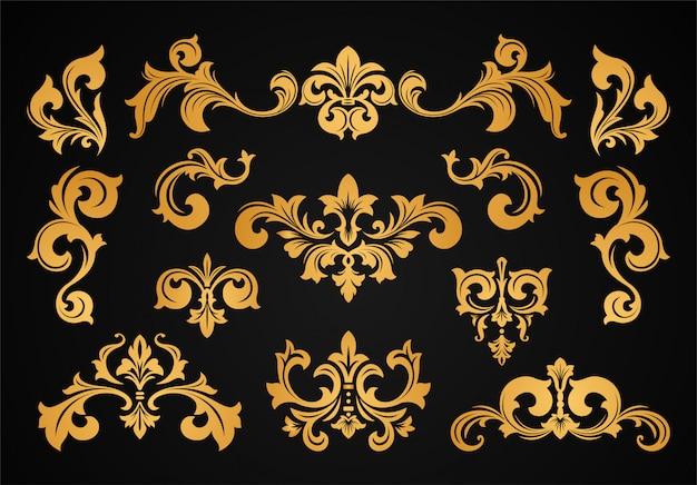 Conjunto de borda de quadro vitoriano barroco vintage