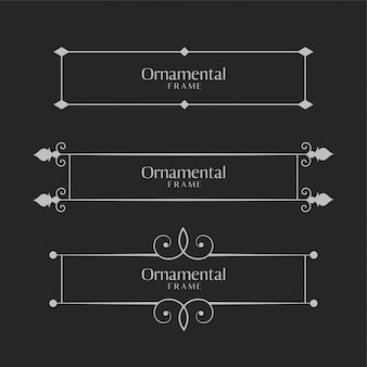 Conjunto de bordas decorativas ornamentais