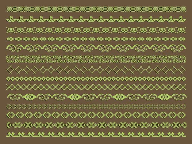 Conjunto de bordas decorativas