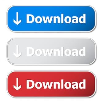 Conjunto de botão de download com armação de metal e sombra